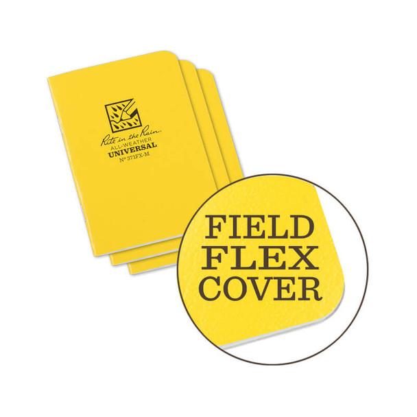 Rite In The Rain Stapled Mini-Notebook Yellow 3 PK