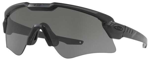 Oakley SI Ballistic M Frame Alpha Sunglasses with Matte Black Frame and Grey Lens
