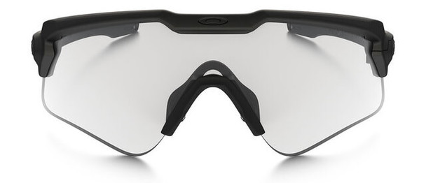 Oakley SI Ballistic M Frame Alpha Sunglasses with Matte Black Frame and Clear and Gray Lens