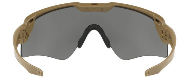 Oakley SI Ballistic M Frame Alpha Sunglasses with Terrain Tan Frame and Grey Lens - Back