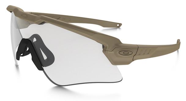 Oakley SI Ballistic M Frame Alpha Sunglasses with Terrain Tan Frame and Clear Lens