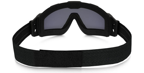 Oakley SI Ballistic Halo Goggle with Matte Black Frame and Grey Lens Back