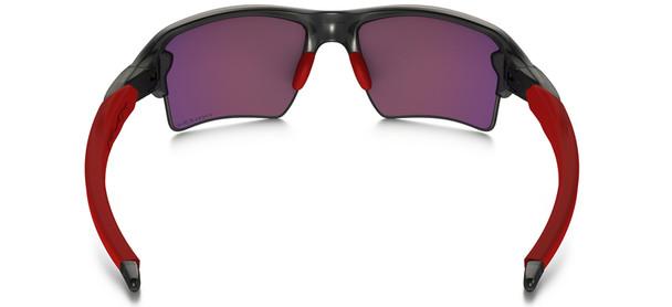 Oakley Flak Jacket 2.0 XL Sunglasses with Grey Smoke Frame and Prizm Road Lens Back