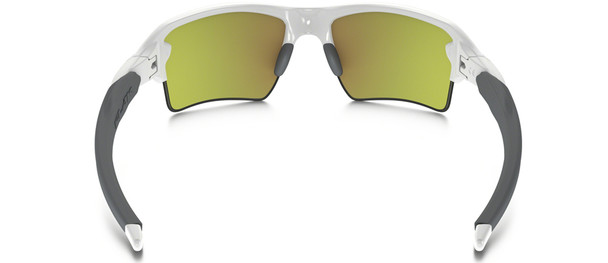 Oakley Flak Jacket 2.0 XL Sunglasses with Polished White Frame and Fire Iridium Lens Back