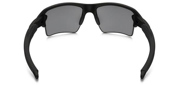 Oakley SI Thin Blue Line Flak Jacket 2.0 XL with Black Frame and Black Iridium Lens Back