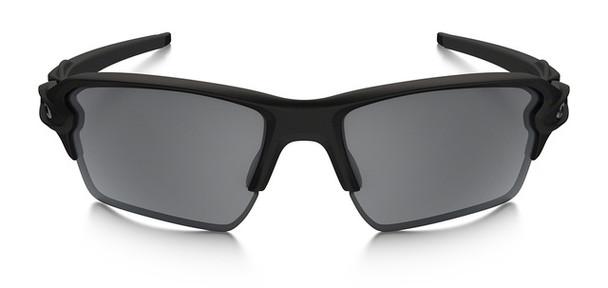 Oakley SI Thin Blue Line Flak Jacket 2.0 XL with Black Frame and Black Iridium Lens Front