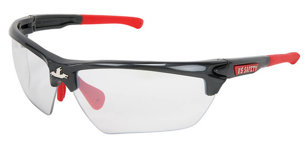 Crews Dominator 3 Safety Glasses with Gunmetal Colored Frame and Indoor-Outdoor Lens