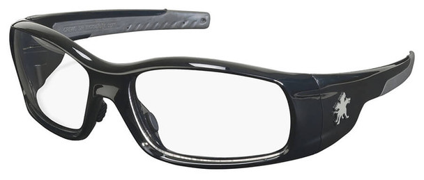 Crews Swagger Safety Glasses with Black Frame and Clear Lens