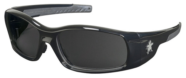 Crews Swagger Safety Glasses with Black Frame and Gray Polarized Lens