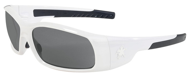 Crews Swagger Safety Glasses with White Frame and Gray Anti-Fog Lens