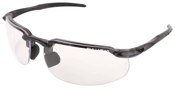 Bullhead Swordfish Safety Glasses with Crystal Black Frame and Clear Anti-fog Lens