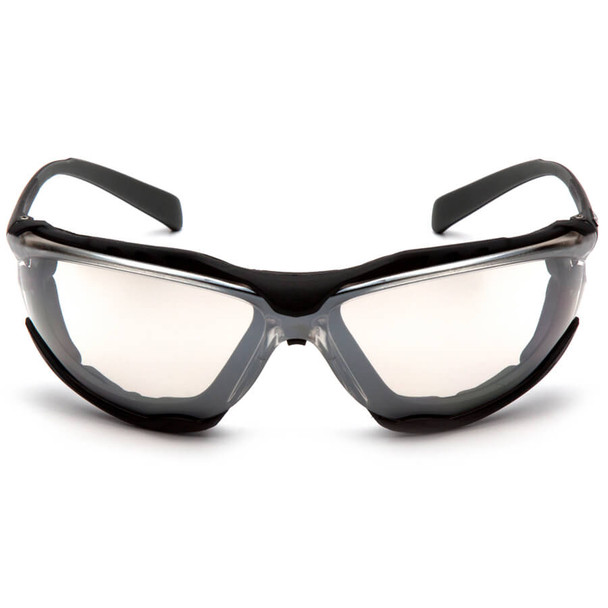 Pyramex Proximity Safety Glasses with Black Frame and Clear Lens - Front