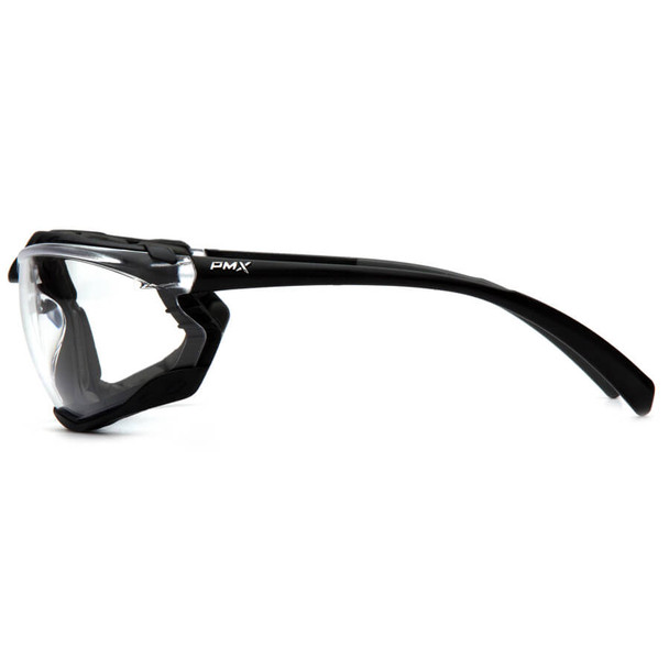 Pyramex Proximity Safety Glasses with Black Frame and Clear Lens - Side