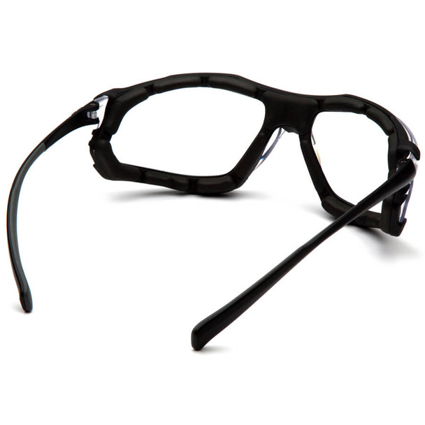 Pyramex Proximity Safety Glasses with Black Frame and Clear Lens - Back