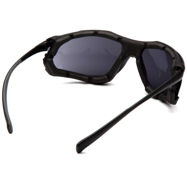Pyramex Proximity Safety Glasses with Black Frame and Dark Gray Lens - Back