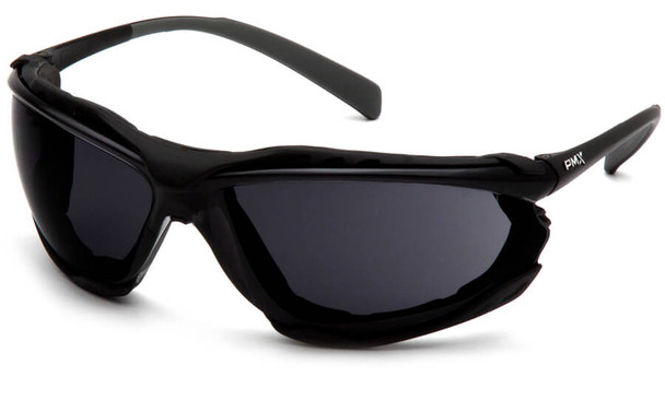 Pyramex Proximity Safety Glasses with Black Frame and Dark Gray Lens