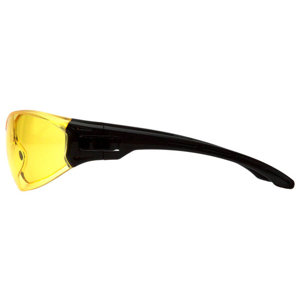 Pyramex Trulock Dielectric Safety Glasses with Black Temples and Amber Lens - Side