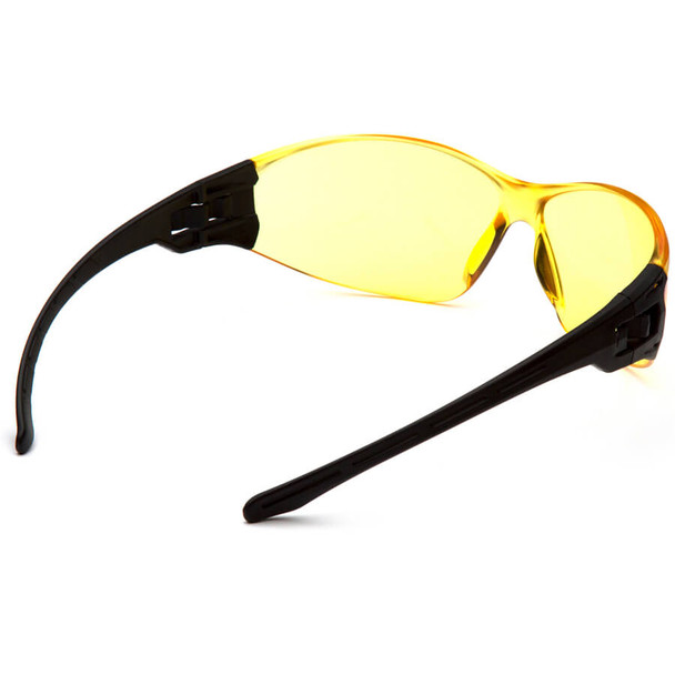 Pyramex Trulock Dielectric Safety Glasses with Black Temples and Amber Lens - Back