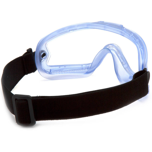 Pyramex Child Size Splash Goggle with Translucent Frame and Clear Lens - Back