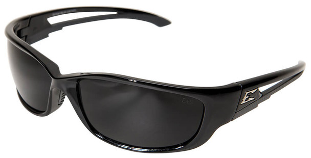 Edge Kazbek XL Safety Glasses with Black Frame and Smoke Vapor Shield Lens