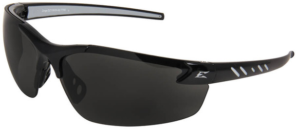 Edge Zorge G2 Safety Glasses with Black Frame and Smoke Vapor Shield Lens