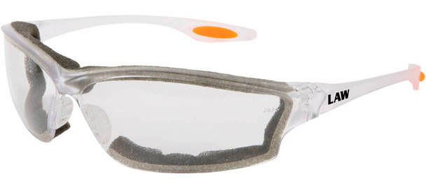 Crews Law 3 Safety Glasses with Clear Anti-Fog Lens and Foam Seal