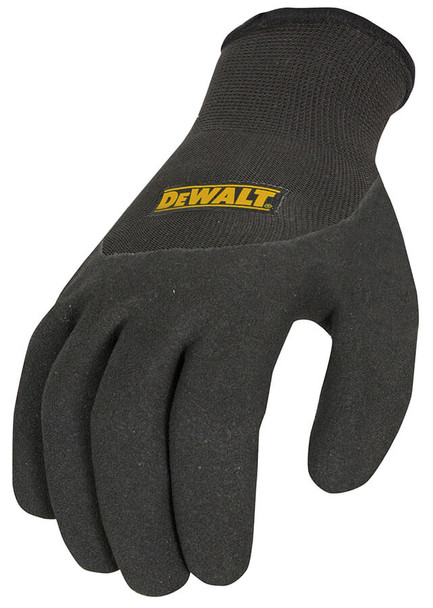 DeWalt DPG737 Thermal Work Glove with 3/4 Dipped Micro Foam Palm - Top