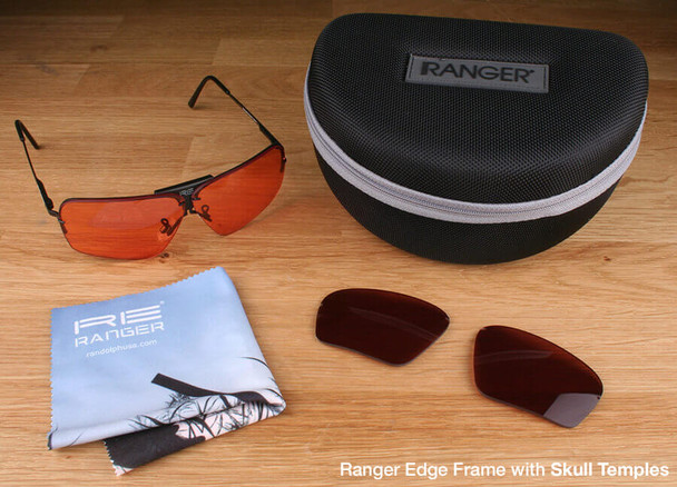 Randolph Edge 2-Lens Premium Clay Kit with HD Medium and Modified Brown Lenses with Skull Temples