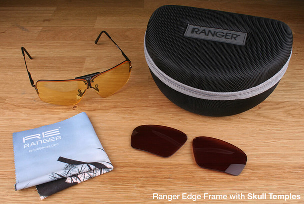 Randolph Edge 2-Lens Premium Hunting Kit with Medium Yellow and Modified Brown Lenses with Skull Temples
