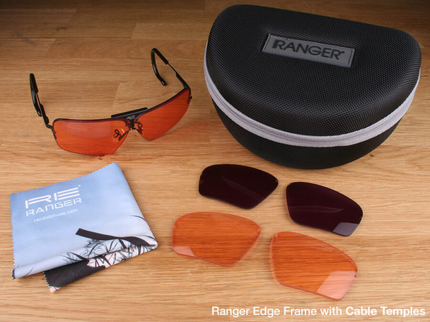 Randolph Edge 3-Lens Clay Kit with HD Light, HD Medium and CMT Lenses with Cable Temples
