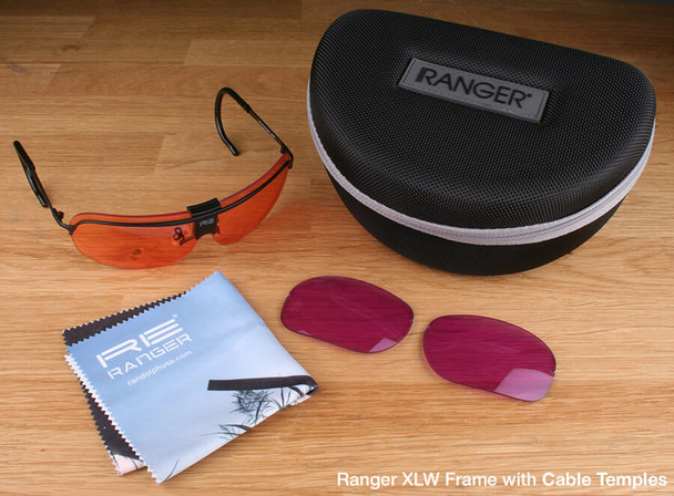 Randolph XLW 2-Lens Clay Kit with HD Medium and Dark Purple Lenses with Cable Temples
