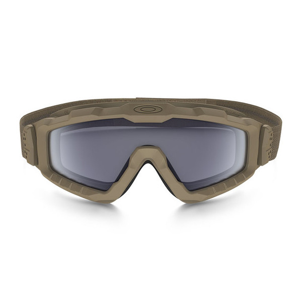 Oakley SI Ballistic Halo Goggle with Terrain Tan Frame and Grey Lens Front