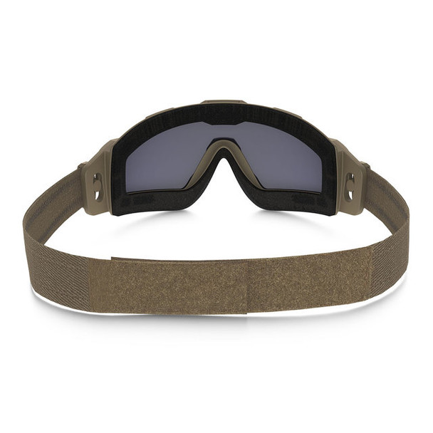 Oakley SI Ballistic Halo Goggle with Terrain Tan Frame and Grey Lens Back