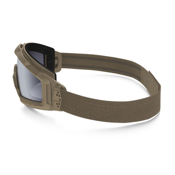 Oakley SI Ballistic Halo Goggle with Terrain Tan Frame and Grey Lens Side