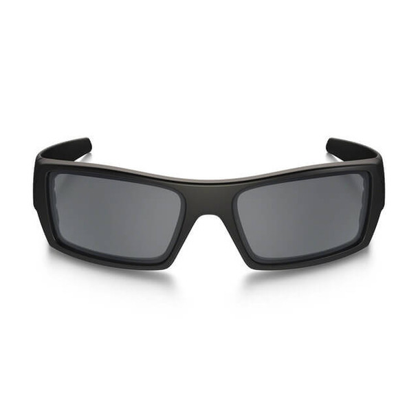 Oakley SI Thin Red Line Gascan Sunglasses with Satin Black Frame and Black Iridium Lens - Front