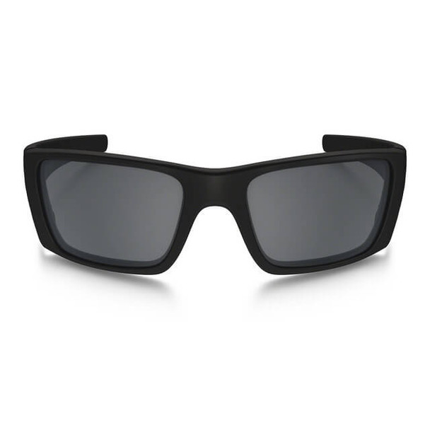 Oakley SI Thin Red Line Fuel Cell Sunglasses with Satin Black Frame and Black Iridium Lens - Front