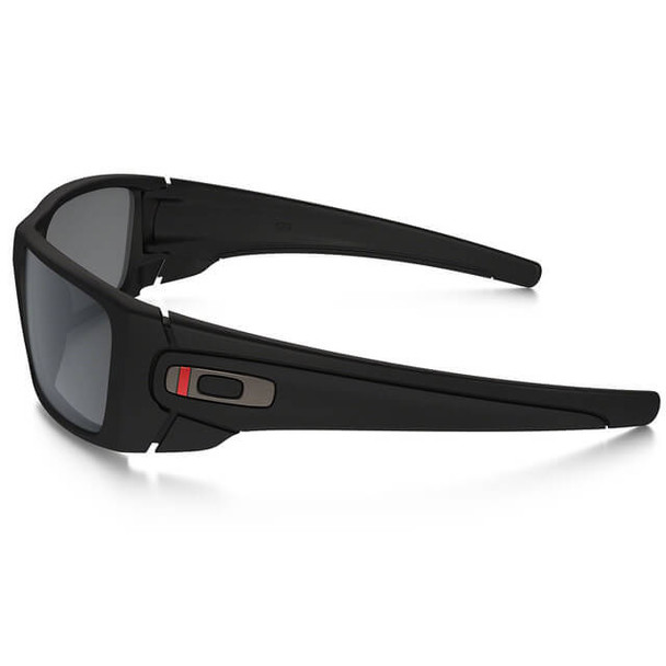 Oakley SI Thin Red Line Fuel Cell Sunglasses with Satin Black Frame and Black Iridium Lens - Side
