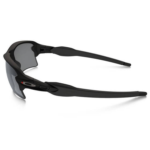 Oakley SI Thin Red Line Flak 2.0 XL Sunglasses with Satin Black Frame and Black Iridium Lens - Side