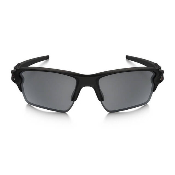 Oakley SI Thin Red Line Flak 2.0 XL Sunglasses with Satin Black Frame and Black Iridium Lens - Front