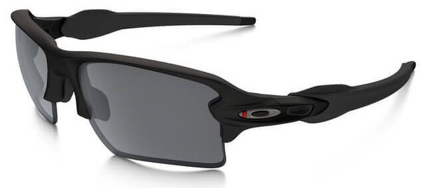 Oakley SI Thin Red Line Flak 2.0 XL Sunglasses with Satin Black Frame and Black Iridium Lens