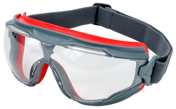 3M GoggleGear 500 with Gray Frame and Clear Scotchgard Anti-Fog Lens GG501SGAF