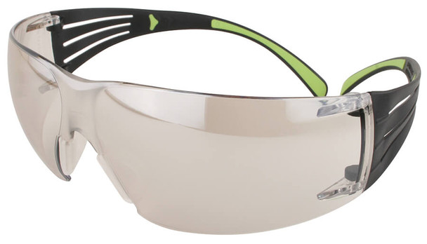 3M SecureFit Safety Glasses with Black/Lime Temples and Indoor/Outdoor Lens