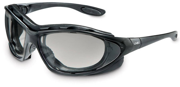 Uvex Seismic Safety Glasses/Goggles with Black Frame and SCT-Reflect 50 Anti-Fog Lens