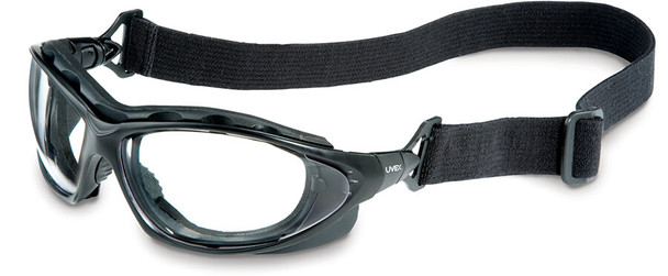 Uvex Seismic Bifocal Safety Glasses/Goggles with Black Frame and Clear Anti-Fog Lens with Strap