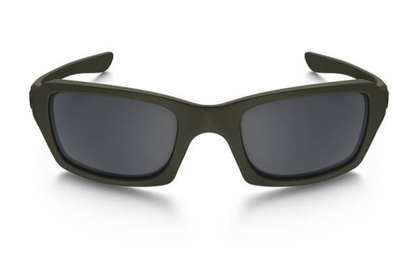 Oakley SI Fives Squared Sunglasses with Cerakote MIL Spec Green Frame and Black Iridium Lens - Front