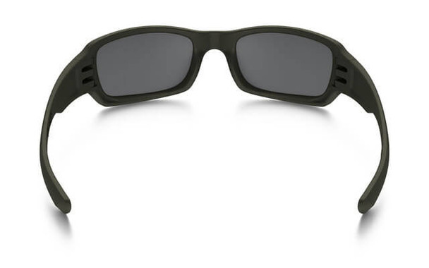 Oakley SI Fives Squared Sunglasses with Cerakote MIL Spec Green Frame and Black Iridium Lens - Back