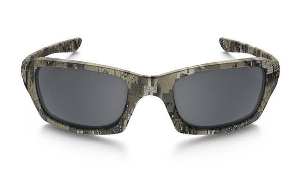 Oakley SI Fives Squared Sunglasses with Desolve Bare Frame and Black Iridium Lens - Front