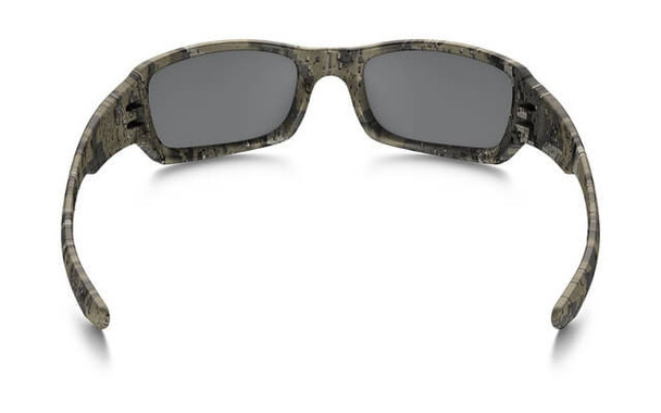 Oakley SI Fives Squared Sunglasses with Desolve Bare Frame and Black Iridium Lens - Back