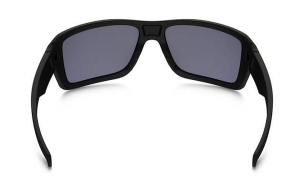Oakley SI Double Edge Sunglasses with Matte Black Frame and Grey Polarized Lens - Back
