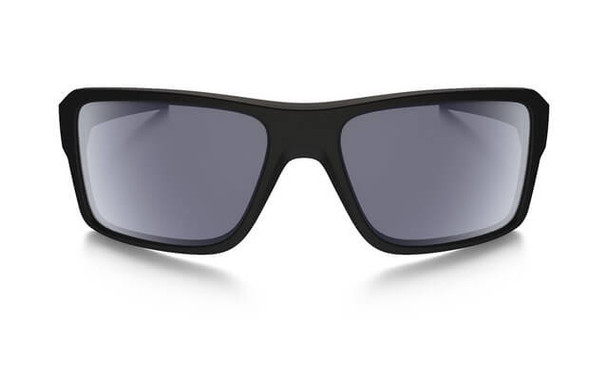 Oakley SI Double Edge Sunglasses with Matte Black Frame and Grey Polarized Lens - Front